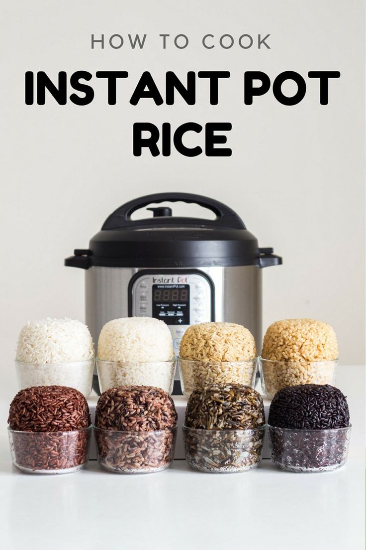 After weeks of experimenting I got it right. Here is your fail-proof guide for Instant Pot Rice. Basmati white rice, Basmati brown rice, short grain brown rice, wild rice blend, black rice, wild rice, red rice and sushi rice.