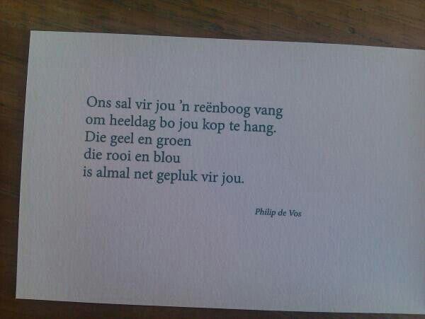 Philip de vos afrikaans poem