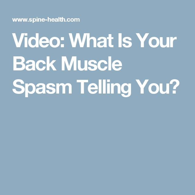 how to stop a muscle spasm in your back