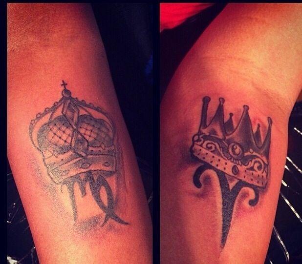 Couples king & queen zodiac tattoos | Body Art | Pinterest ...