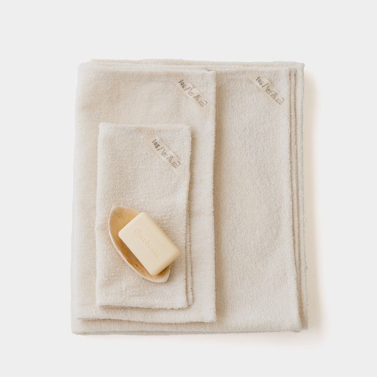 Linen Terry Towels: White