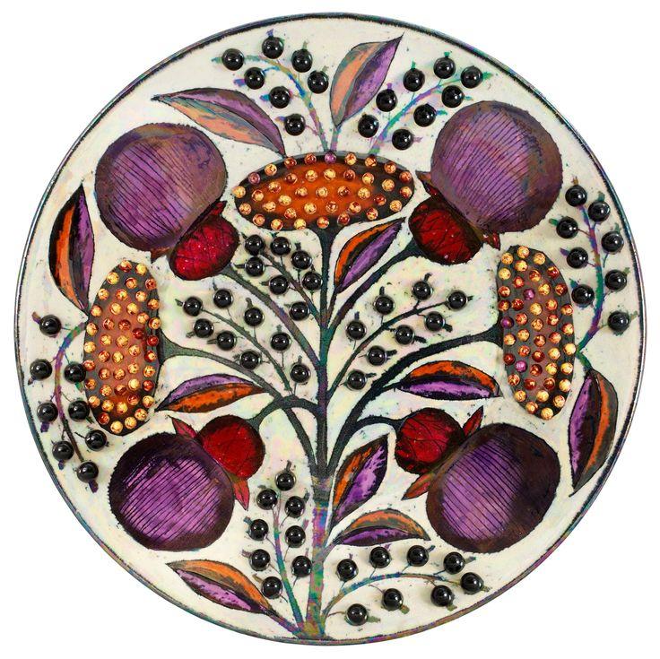 Vintage ceramic plate. Birger Kaipiainen