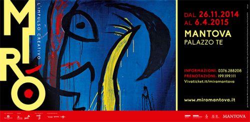 """""""Miró - L'impulso creativo"""" è la mostra dedicata all'artista catalano fino al 6 aprile 2015 si può visitare presso le Fruttiere di Palazzo Te a Mantova @gardaconcierge"""