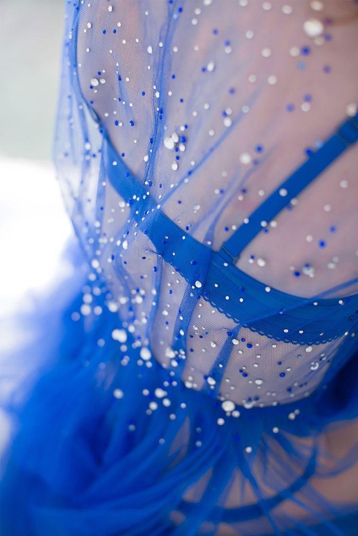 """Будуарное платье """"In Love Under The Stars"""". Мягкий еврофатин и кристаллы (стразы) Swarovski."""