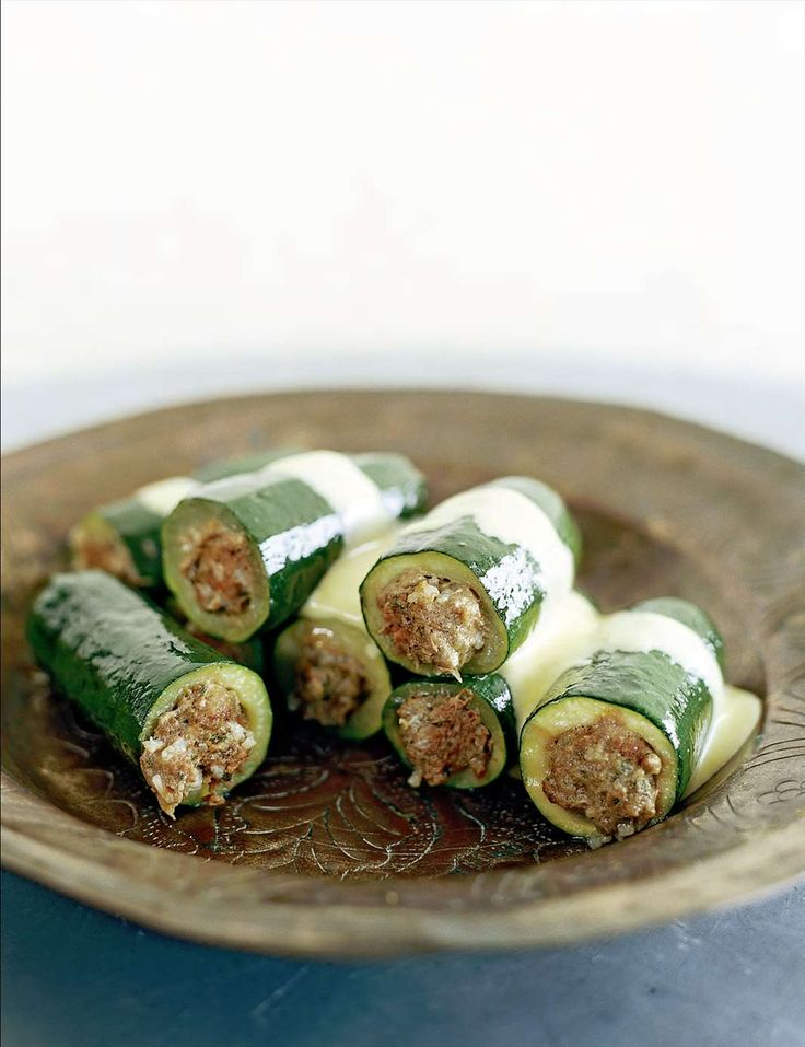 Stuffed zucchini with avgolemono by Pam Talimanidis from A la Grecque | Cooked
