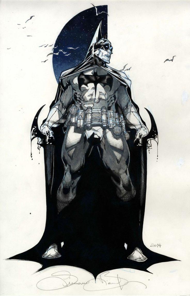 Batman commission SDCC 2014 by simonebianchi.deviantart.com on @deviantART