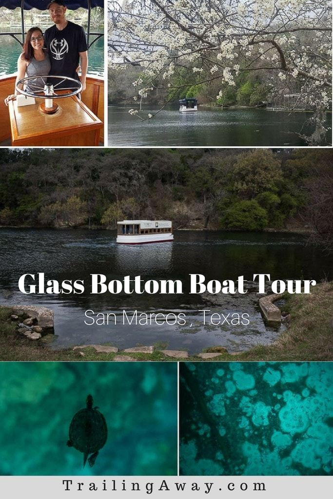 The historic San Marcos Glass Bottom Boat tour is a great way to learn about & explore the clear waters of Spring Lake. It is a Texas Hill Country must-see! via @trailingaway
