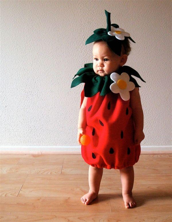 diy kleidung karnevalskostüme baby erdbeere