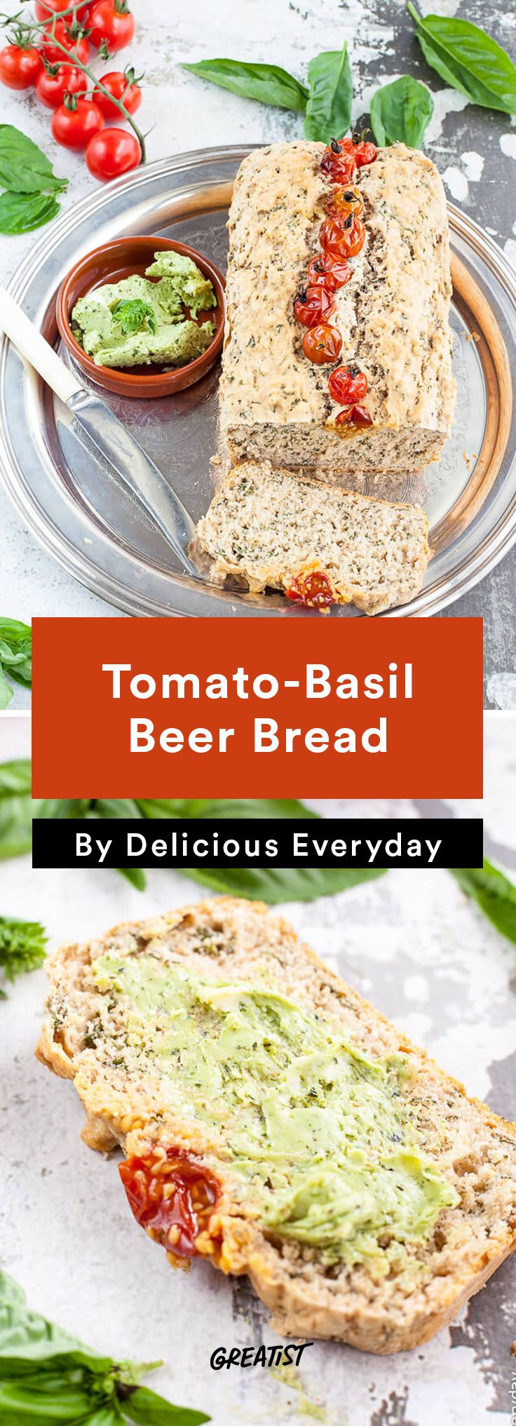 1. Tomato-Basil Beer Bread #healthy #beer #recipes http://greatist.com/eat/cooking-with-beer-recipes-to-always-have-on-tap
