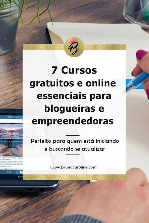 Um post perfeito para blogueiras iniciantes, confira esses cursos gratuitos e online para blogueiras e empreendedoras que desejam crescer o blog, criar um blog rentável, ganhar dinheiro com blog e se atualizar com essas dicas para blog.