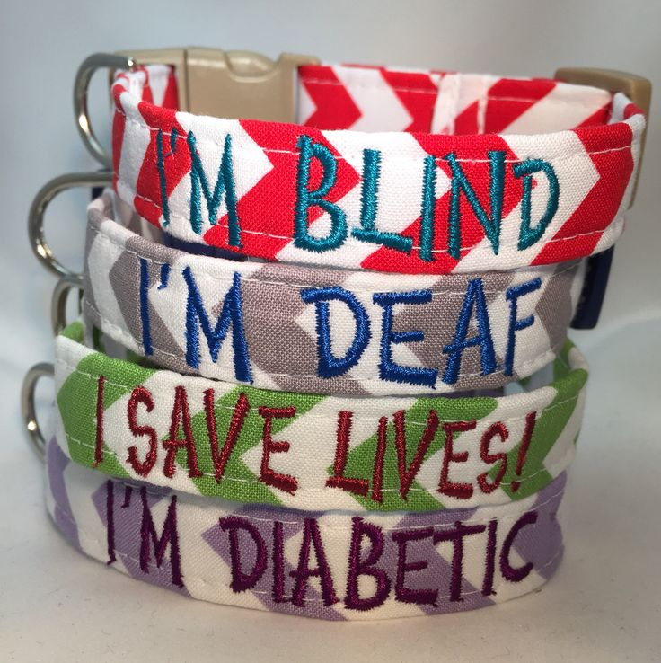 SPECIAL NEEDS COLLARS are ideal for you dog whether he/she is blind, deaf, diabetic, or a service dog!!