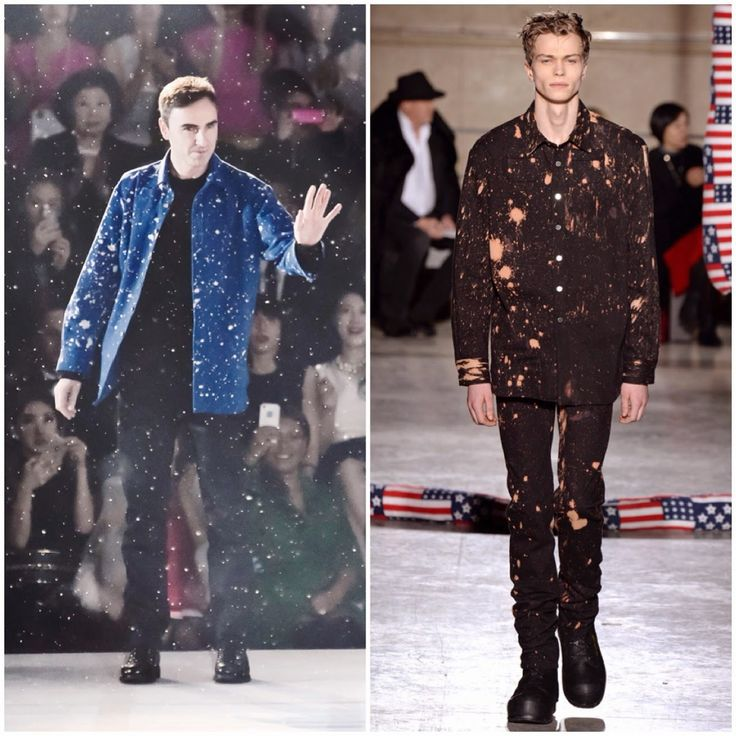 Raf Simons in Raf Simons / Sterling Ruby - Christian Dior Pre-Fall 2015 Show http://www.whats-he-wearing.com/2014/12/raf-simons-wears-raf-simons-sterling-ruby-blue-hand-bleached-paint-splattered-shirt-esprit-christian-dior-tokyo-pre-fall-2015.html?spref=tw  #EspritDior