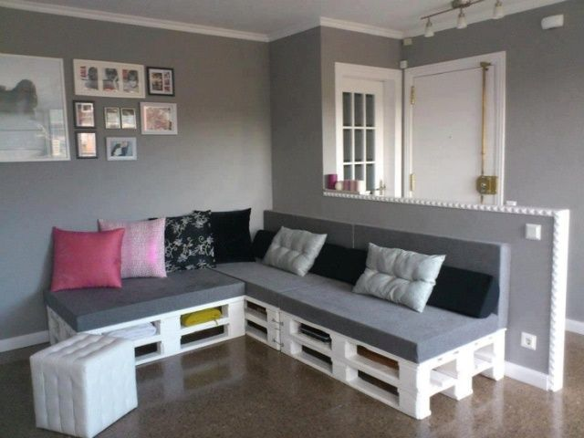 awesome DIY pallet sofas