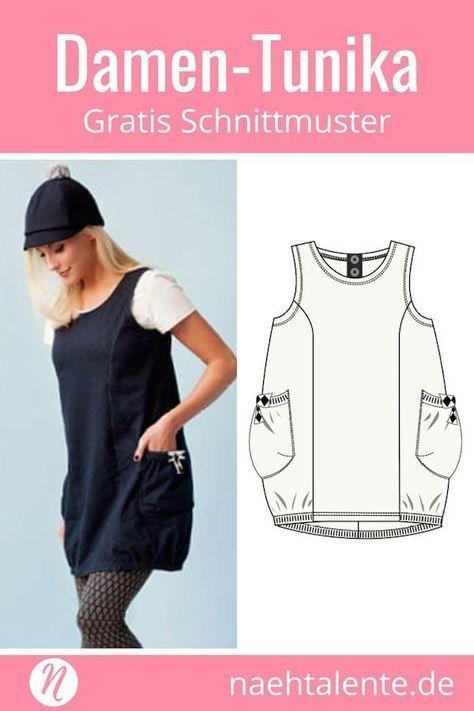 Damen Tunika Emma – Freebook Gr. XS – XL