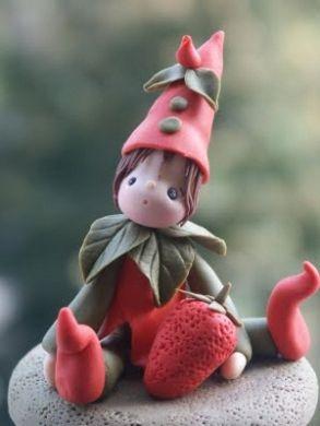 Gnome salt dough idea. Spray with polyurethane for fairy garden creatures.