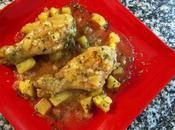 Pollo salsa cava, manzana estragon