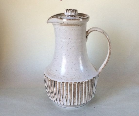 Poole Pottery New Stoneware coffee pot in Oatmeal. The New Stoneware collection…