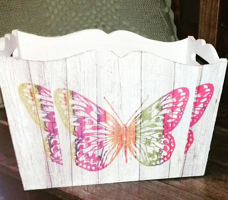 Caja Mariposa 3d Decoupage