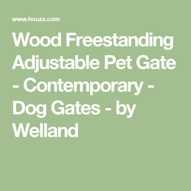 Wood Freestanding Adjustable Pet Gate - Contemporary - Dog Gates - by Welland