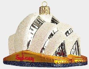 Sydney Australia Opera House Poland Glass Christmas Ornament Made in Poland