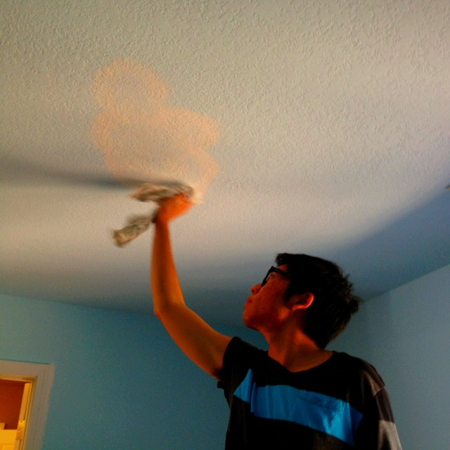 For a kid 39 s room i usually like to paint clouds on the for Ceiling mural decal