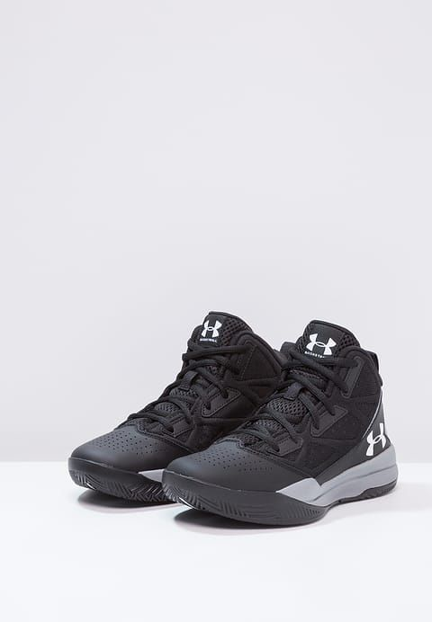 Under Armour JET - Chaussures de basket - black/steel/white - ZALANDO.FR