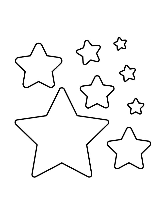 It's just a graphic of Impeccable Star Stencil Printable