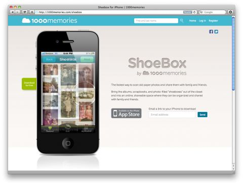Shoebox iPhone Ap via swissmiss: Scan and share your old photo prints. #iPhone_A…