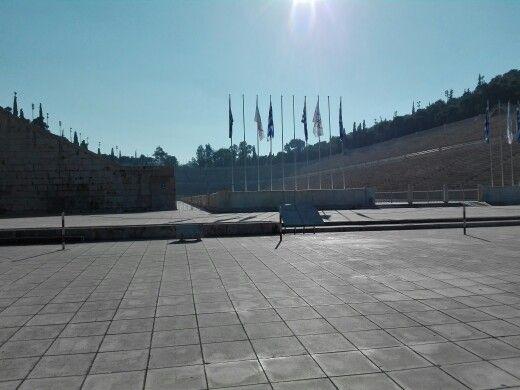 #running #athens #panathinaic_stadium #morning_running #vegan #athens_2015 #proud_to_be_vegan