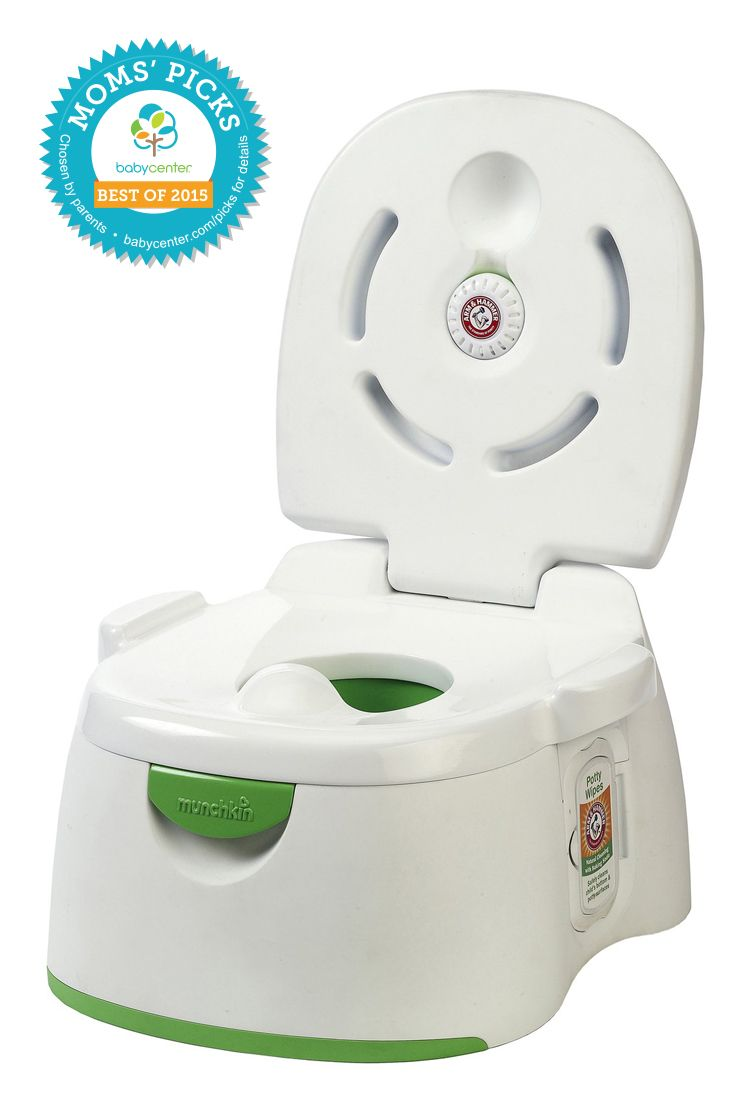 2015 BEST POTTY Munchkin Arm & Hammer 3-in-1 Potty Seat *BabyCenter Moms' Picks are based on a nationwide survey and online voting on BabyCenter.com that allow parents to voice their opinions about and share their experience with the key products and gear of parenting. BabyCenter does not endorse any specific product.