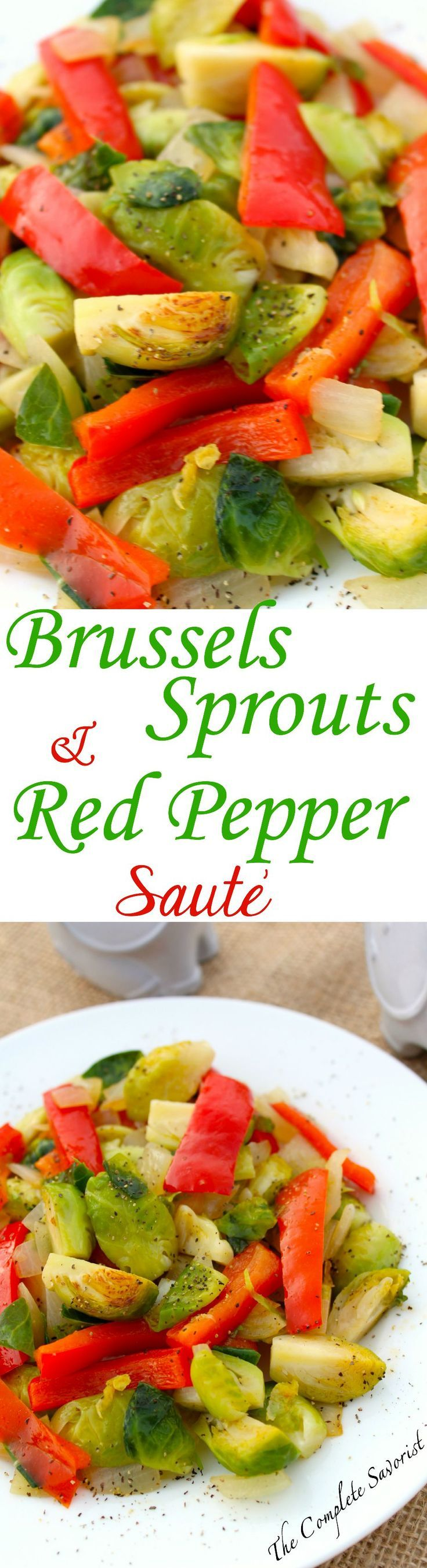 quick brussels sprouts and red pepper saut the complete