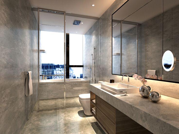 service apartment interior design mocha - _unit10_ (3) second bathroom