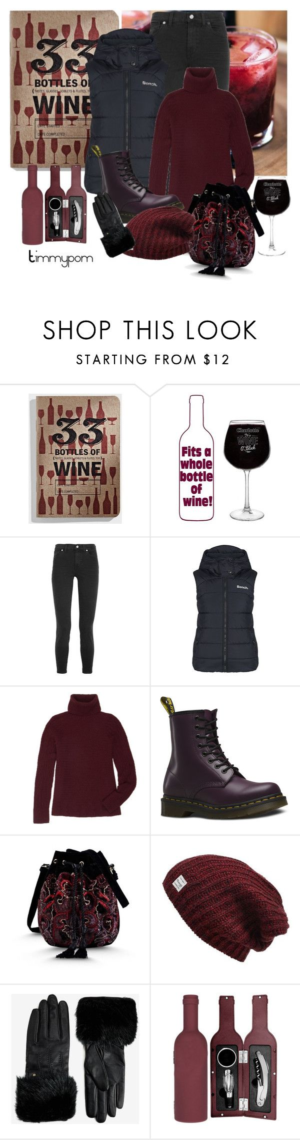 """""""Shopping..."""" by timmypom ❤ liked on Polyvore featuring Madewell, Bench, The Row, Dr. Martens, Alberta Ferretti, Ted Baker, jeans, oxblood, vest and turtleneck"""