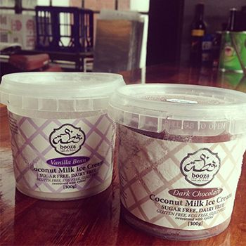 Booza ice cream - sugar free, dairy free, gluten free and made with coconut milk. A big hit in the office! www.booza.com.au