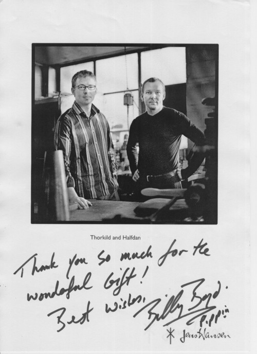 A note from Billy Boyd - another famous customer!