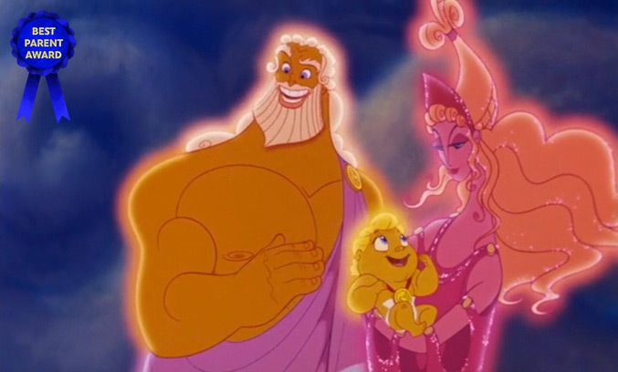 "Best Parents Who Landed Amazing Jobs - Sure, everyone dreams of being a lawyer, a doctor, or an Oh My Disney writer. But the way to really impress at ""Bring Your Parents to School Day""… bring the King and Queen of ALL the Gods, of course!"