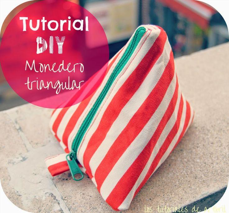 los tutoriales de artbril: DIY- Tutorial Monedero Triangular