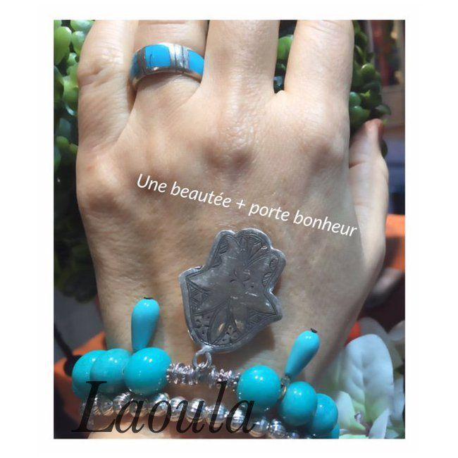 Bracelet fait main agate 1259