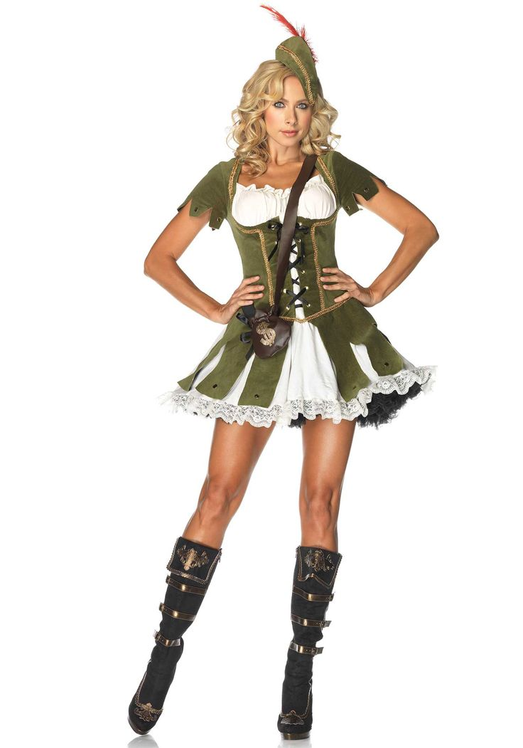 Leg Avenue Thief of Hearts Costume £56.99  Sexy 3 piece Thief of Hearts,Robin Hood style peasant dress,hat with feather accent,and satchel. #legavenue #fancydress