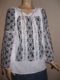 Hand embroidered Romanian blouse available at www.greatblouses.com