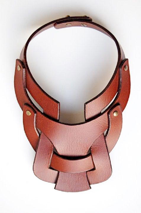 Leather necklace by Anuk Harvey