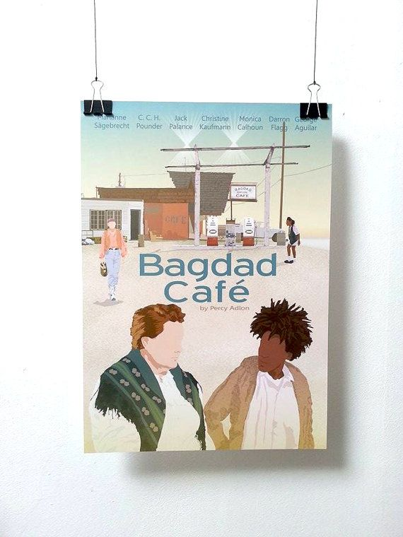Affiche de film Bagdad Café -  A3 Print Illustration by Minuscule Motion Sold on Etsy Movie Poster - Movie Print Present Idea - Wish list - Christmas Present