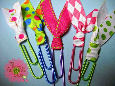 cute ribbon paperclips!