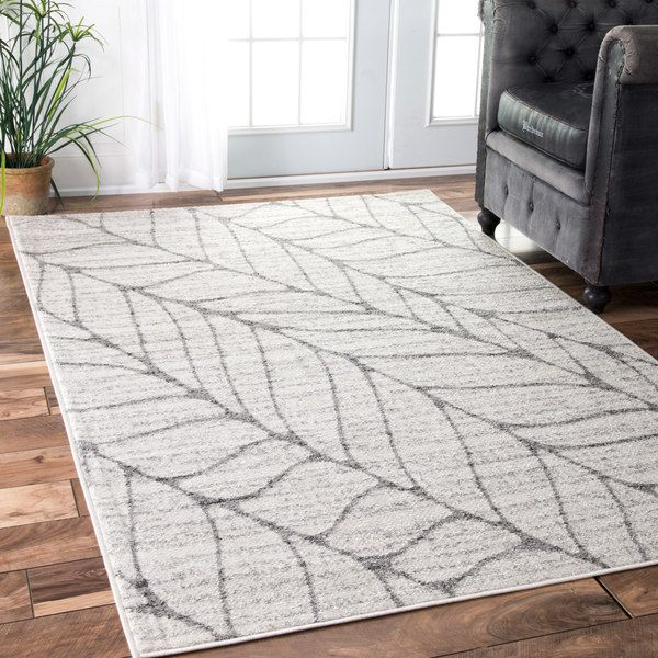 nuloom granite abstract leaves grey rug 4u0027 x 6u0027 by nuloom