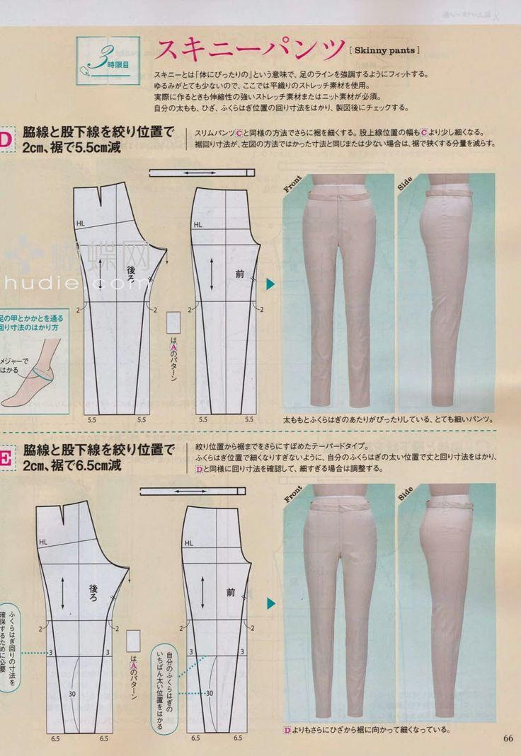 Mujeres y alfileres: Pantalones. Método japonés