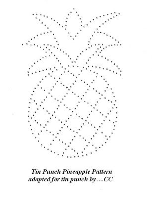 Free Primitive Tin Punch Patterns | Suestreehouse: Tin Punch Pineapple Pattern