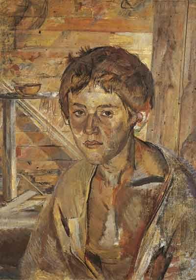 Александр Савинов – Портрет сына Глеба, 1926, Холст, масло, ГТГ