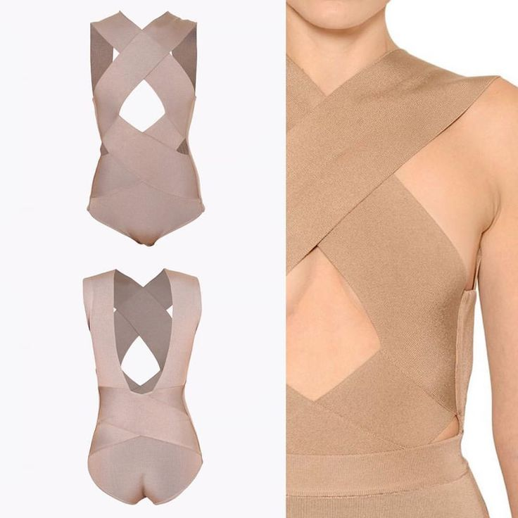 "It's all about bodysuits.  The ""Elaine Polished Bandage Bodysuit"" will be available in beige, black, or white."