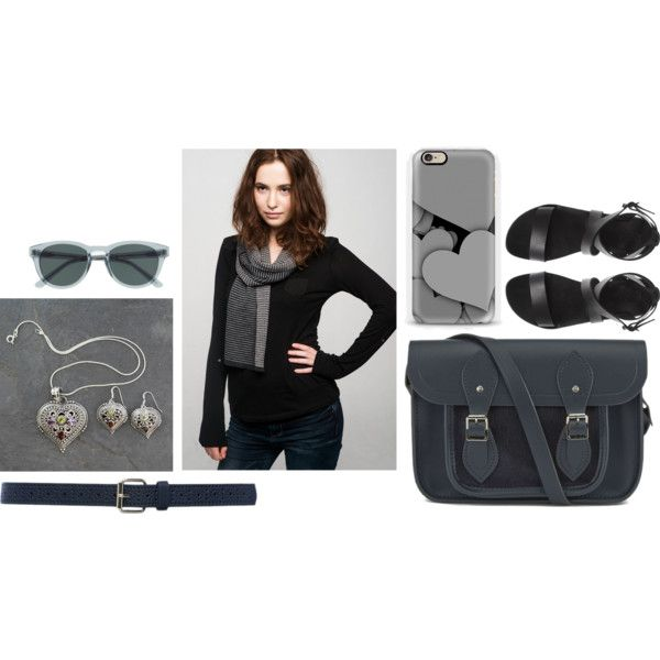 Gray is beautiful by anna-suchodolska on Polyvore featuring The Cambridge Satchel Company, NOVICA, J.Crew and M&Co