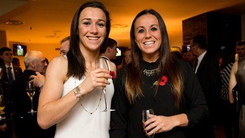 Lucy Bronze and Natasha Harding